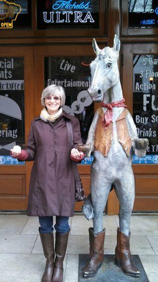 Nancy with Wild HOrse