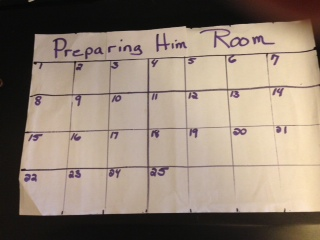 Filling in calendar