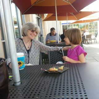 At panera with Nanny