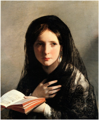 Painting-of-woman-with-bible